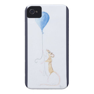 Mouse and Balloon, Watercolour Painting - iPhone 4 iPhone 4 Case-Mate Cases