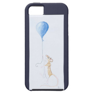Mouse and Balloon, Watercolour Painting - iPhone 5 iPhone 5 Cover