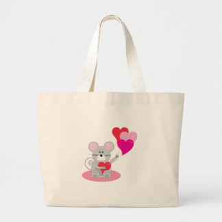 Mouse And Balloons Canvas Bag