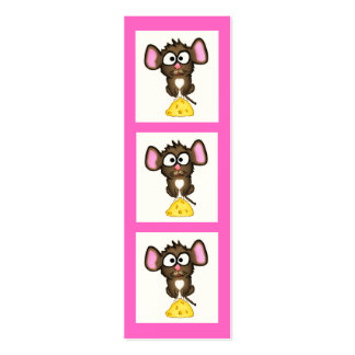 Mouse and Cheese Bookmark Pack Of Skinny Business Cards