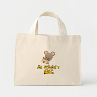 Mouse and cheese canvas bags