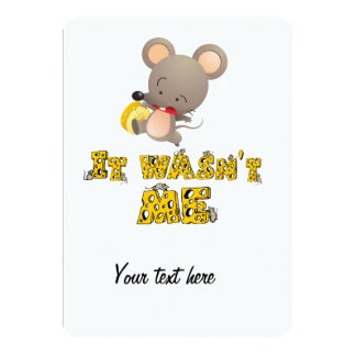 Mouse and cheese .. card