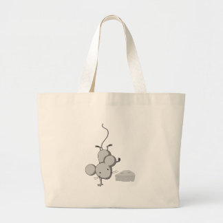 Mouse and cheese jumbo tote bag