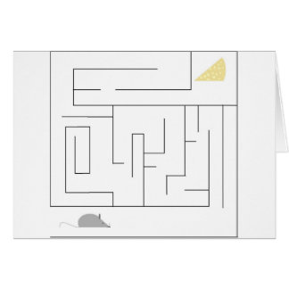 Mouse and Cheese Maze Card