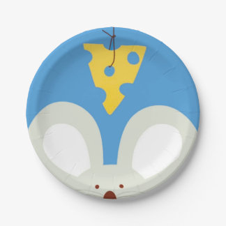 Mouse and Cheese Paper Plate