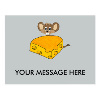 Mouse and cheese postcard