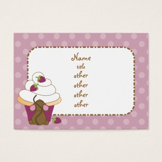Mouse and Cupcake Business Card