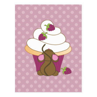 Mouse and Cupcake Post Cards