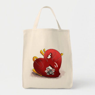 Mouse and Heart Organic Grocery Tote Tote Bag