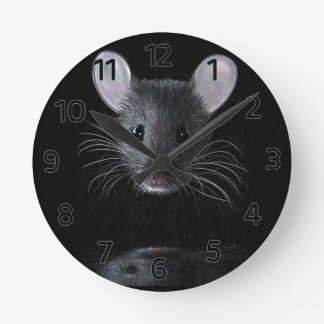 Mouse and Reflection Wall Clock