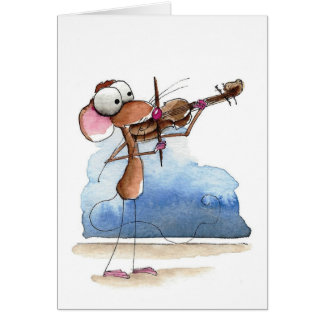 Mouse and the violin card