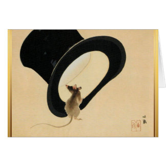 Mouse and Top Hat Chinese New Year of Rat 2020 Greeting Card