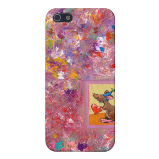 Mouse art fun generous heart love sharing party iPhone 5 cover