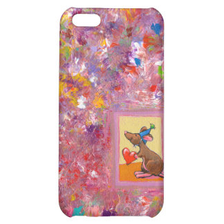 Mouse art fun generous heart love sharing party iPhone 5C cases