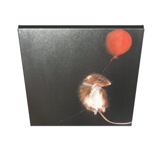 mouse art, mouse painting , wall art, childrens canvas print