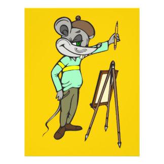 Mouse Artist 21.5 Cm X 28 Cm Flyer