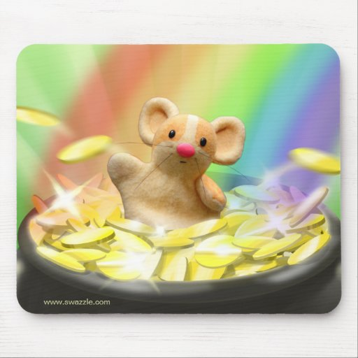 Mouse at the end of the rainbow mouse mats