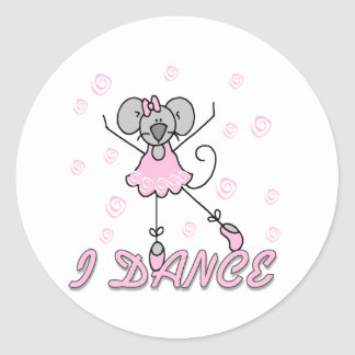 Mouse Ballet I Dance Classic Round Sticker