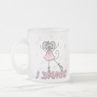 Mouse Ballet I Dance Frosted Glass Coffee Mug
