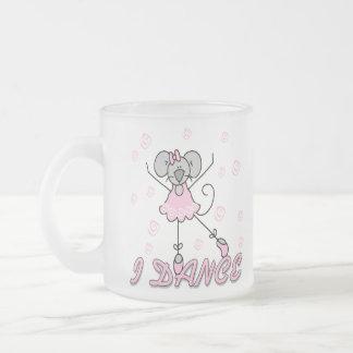 Mouse Ballet I Dance Frosted Glass Mug