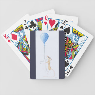 Mouse & Balloon Painting on Pack of Cards