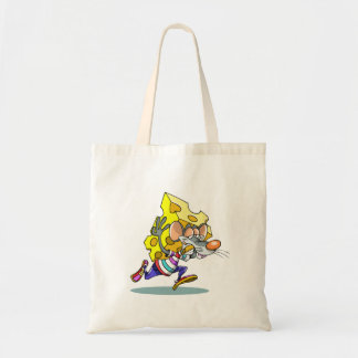 Mouse Carrying Cheese Tote Bag