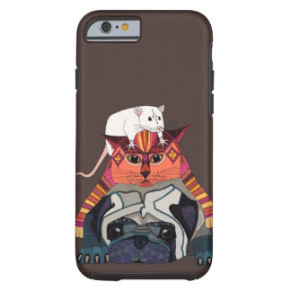 mouse cat pug chocolate tough iPhone 6 case