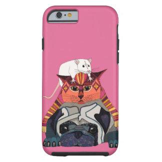 mouse cat pug pink tough iPhone 6 case