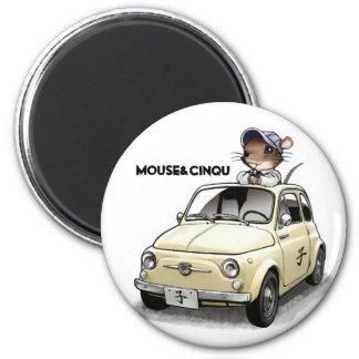 Mouse&Cinqu - Magnet- 6 Cm Round Magnet