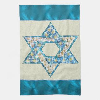 Mouse Drawn Gem Decorated Star Of David Tea Towel