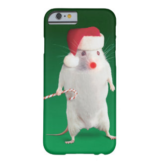 Mouse dressed as Santa Claus Barely There iPhone 6 Case
