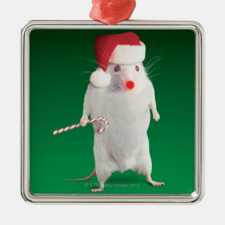 Mouse dressed as Santa Claus Christmas Ornament