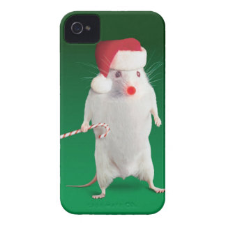 Mouse dressed as Santa Claus iPhone 4 Covers
