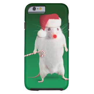Mouse dressed as Santa Claus Tough iPhone 6 Case