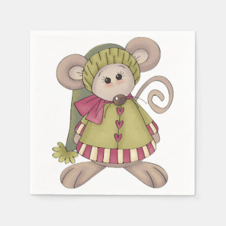 Mouse Dressed Up Paper Napkins