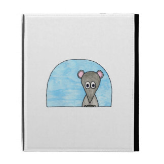 Mouse Driving a Car. iPad Folio Cases