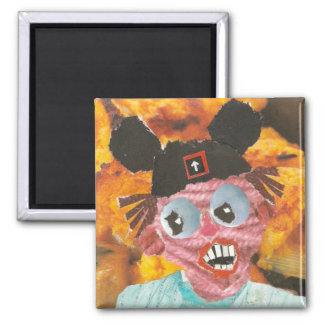 Mouse Ears 1 Square Magnet