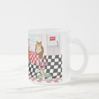 Mouse Edward Does Lunch Frosted Glass Mug
