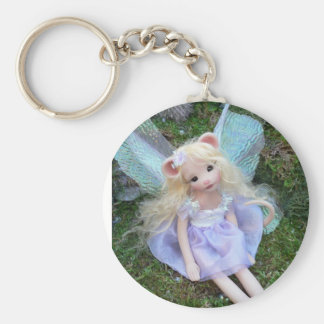 Mouse Faery Basic Round Button Key Ring
