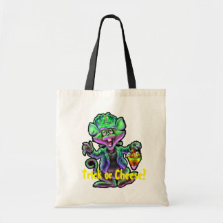Mouse Frankenstein Trick or Cheese Budget Tote Bag