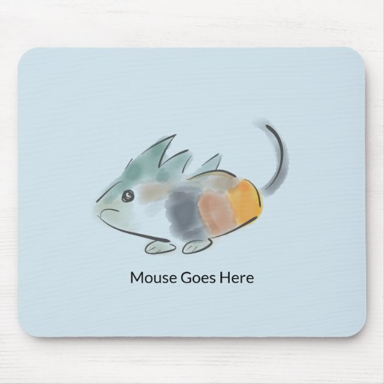 Mouse Goes Here Mousepad