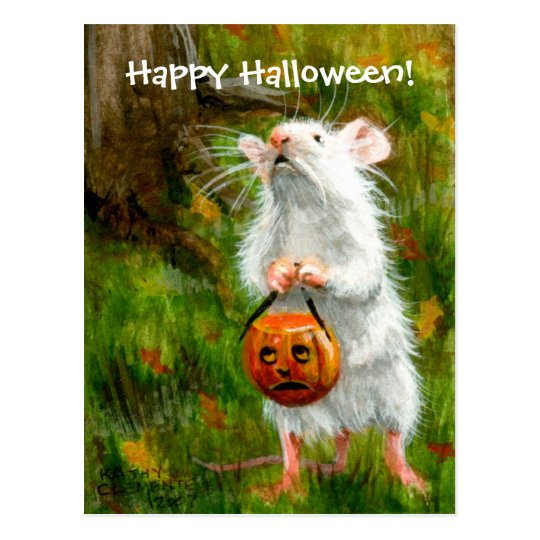 Mouse Happy Halloween! Postcard