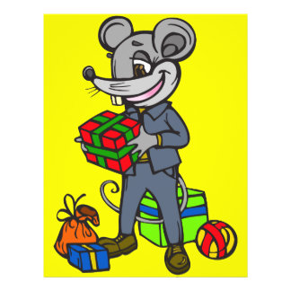 Mouse Holding Gifts 21.5 Cm X 28 Cm Flyer