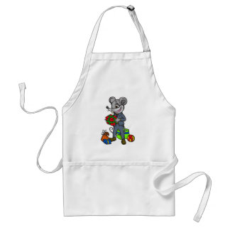 Mouse Holding Gifts Standard Apron