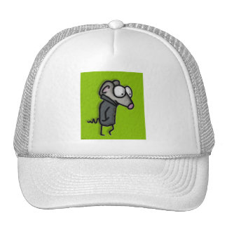 Mouse in a Trench Mesh Hats