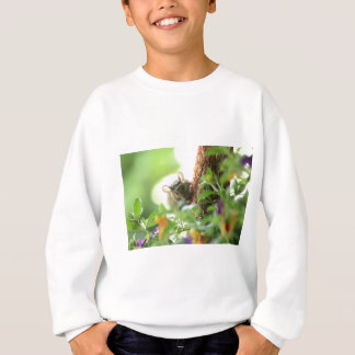 Mouse in flowers sweatshirt