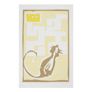Mouse in Maze Print