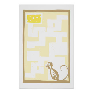 Mouse in Maze Posters