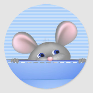 Mouse In Pocket Classic Round Sticker