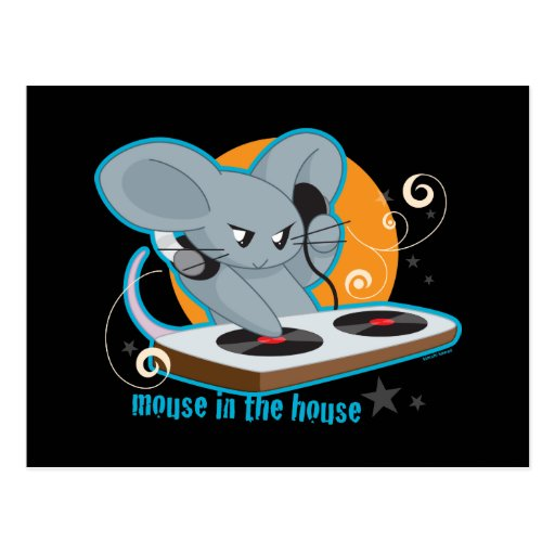 Mouse in the House Postcard